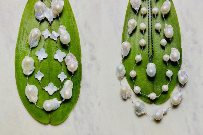 Margo Morrison pearl necklaces