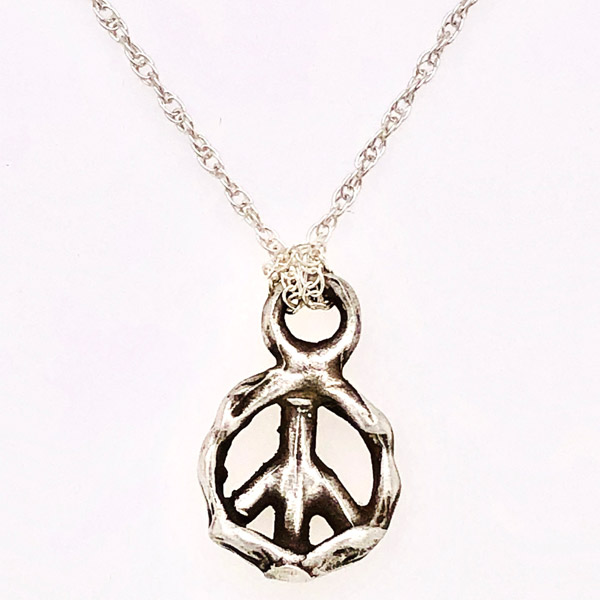 Just Jules Piece for Peace necklace