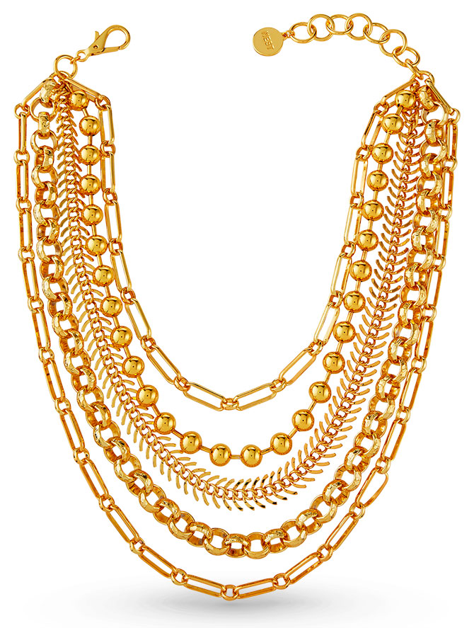 Nest gold layered chain