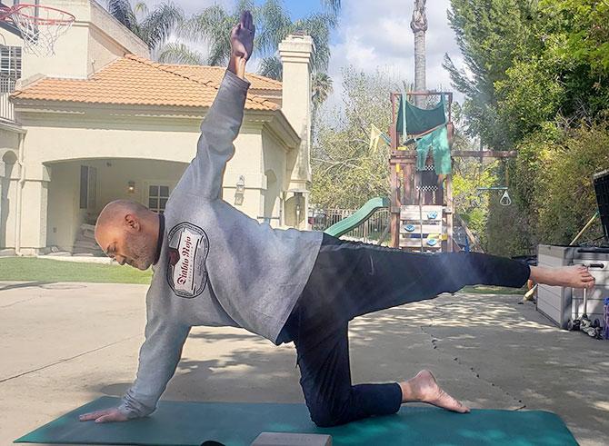 Niveet Nagpal doing yoga