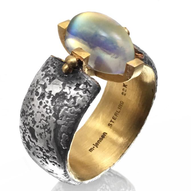 Michael Jensen moonstone Merlin's ring