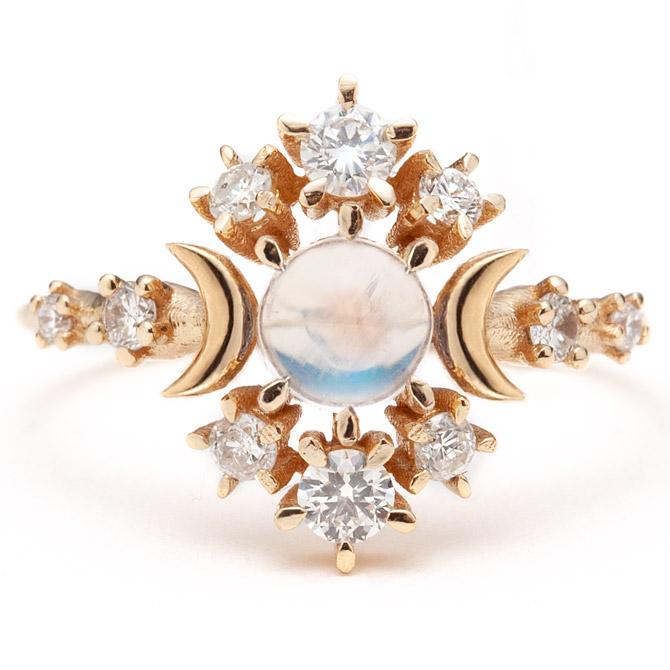 Sofia Zakia Wandering Cosmos moonstone ring