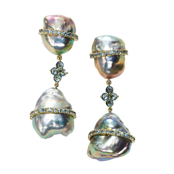 Rush baroque pearl earrings