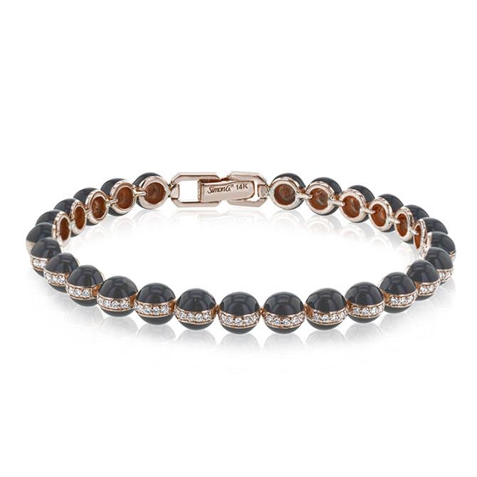 Simon G enamel bead bracelet