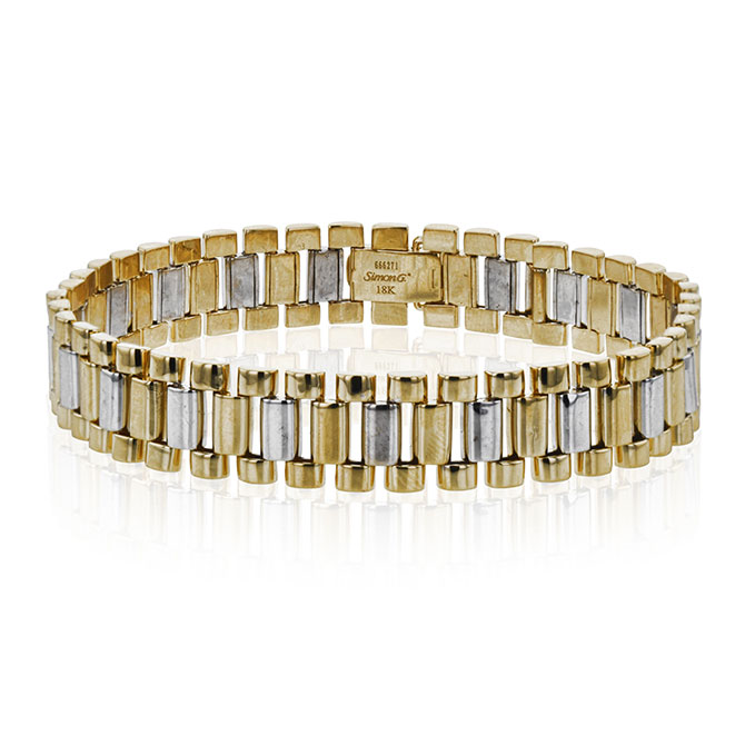Simon G white and yellow gold bracelet