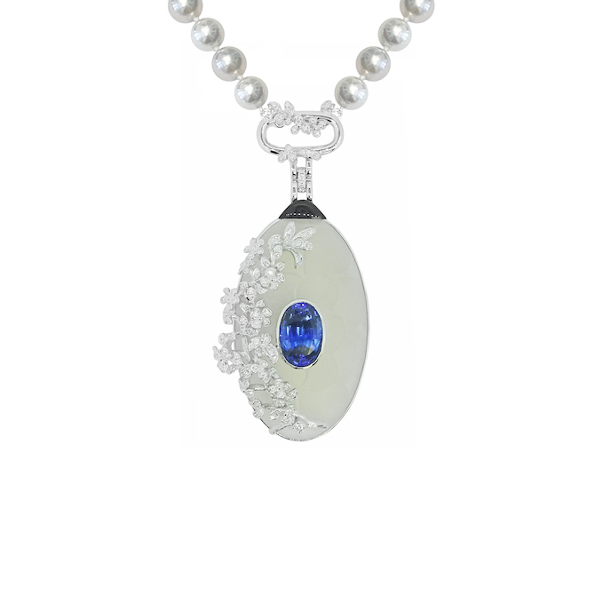 Simone Jewels Georgian locket pearl strand