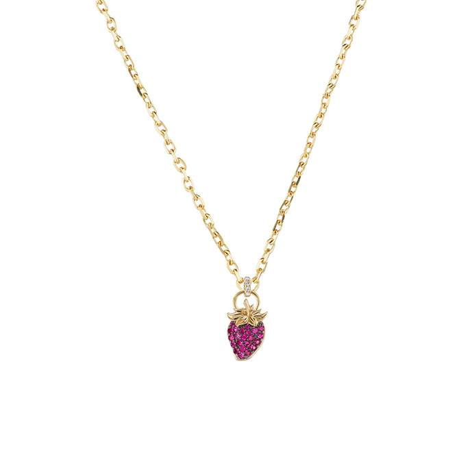 Sorellina strawberry pendant