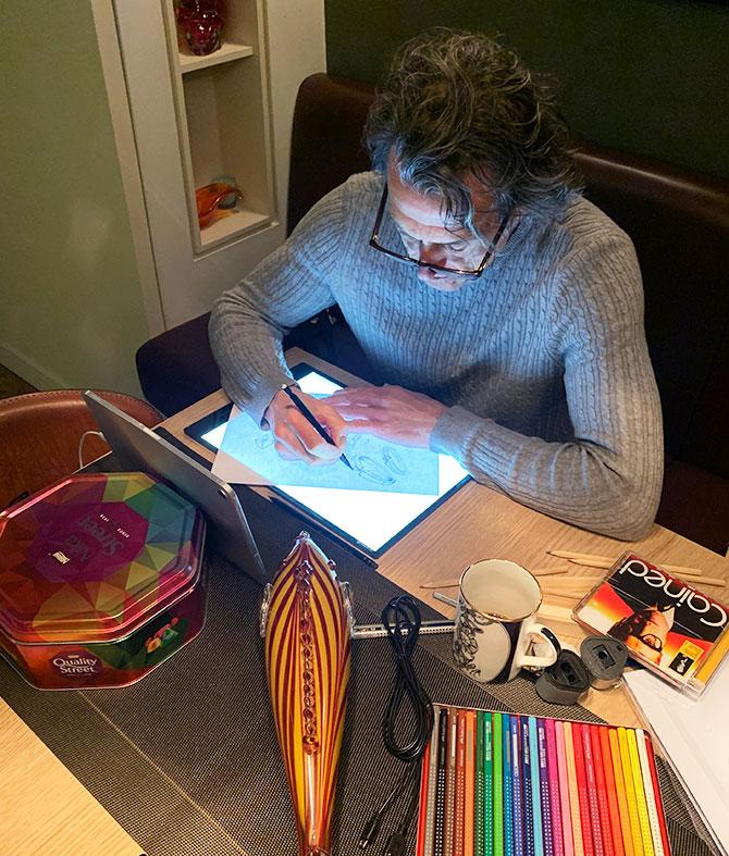 Stephen Webster sketching