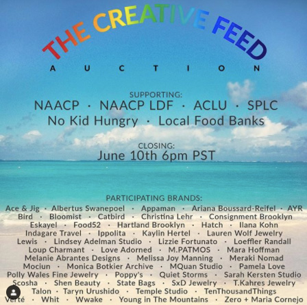 The Creative Feed auction