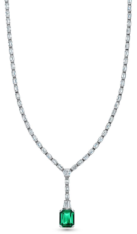 Tiffany 2020 high jewelry emerald diamond pendant