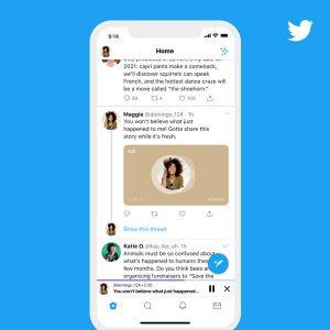 Twitter voice tweet feed