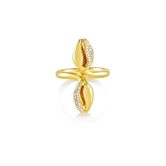 Almasika cowrie ring