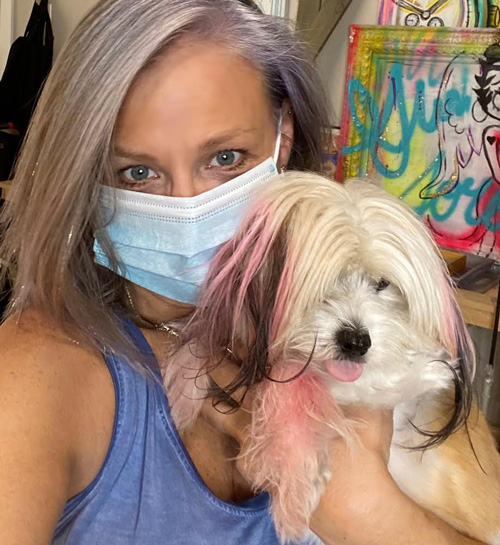 Amanda Jaron and dog