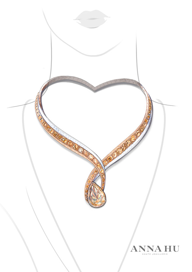 Anna Hu necklace rendering