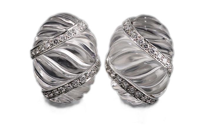 David Webb rock crystal earrings