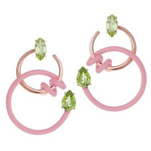 Bea Bongiasca single curl Vine earrings