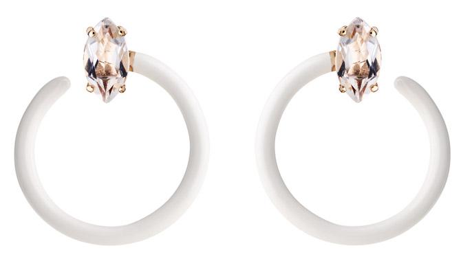 Bea Bongiasca small Tendril circle earrings