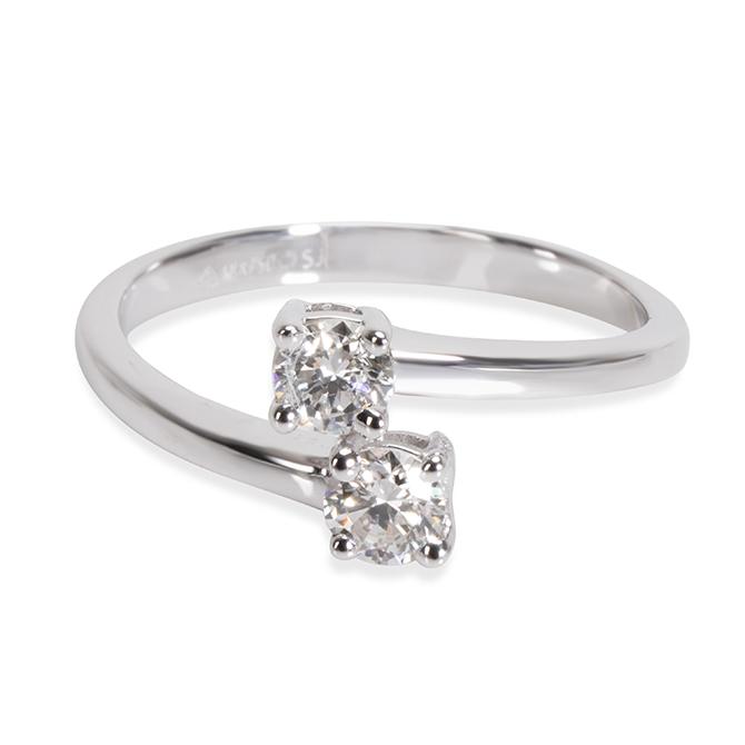 Gemma double diamond ring