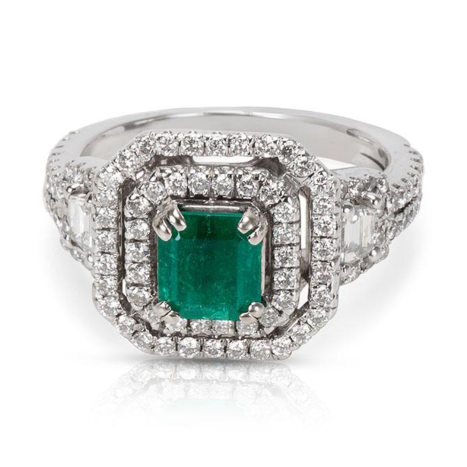 Gemma emerald ring
