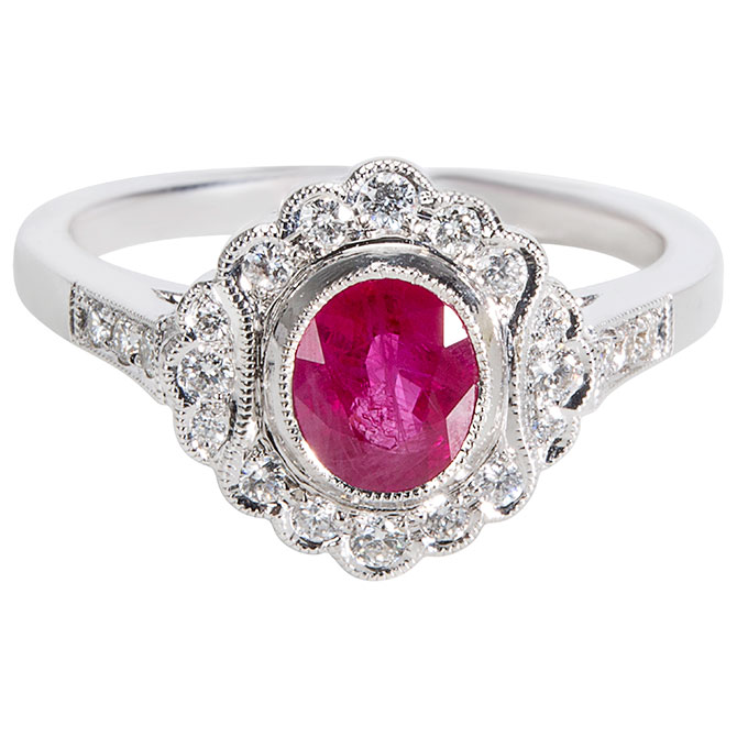 Gemma ruby ring
