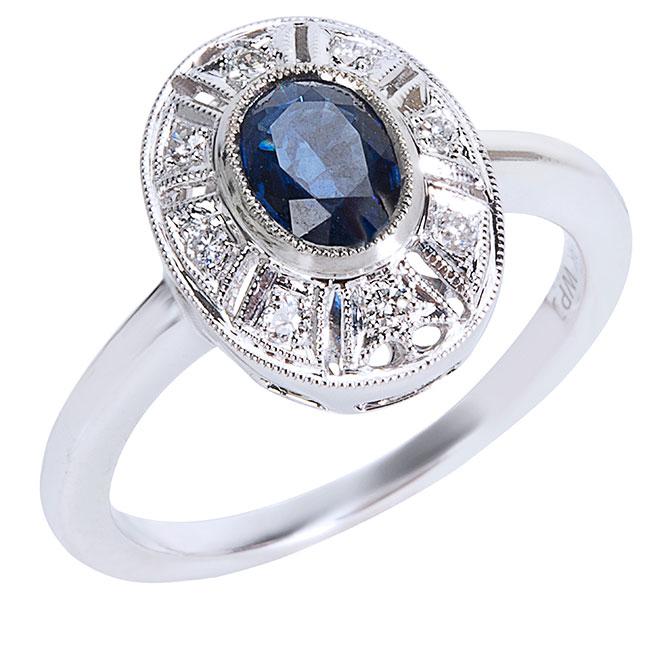 Gemma vintage sapphire ring