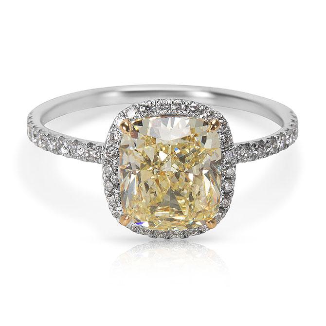 Gemma yellow diamond ring