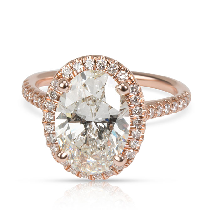 James Allen oval diamond ring