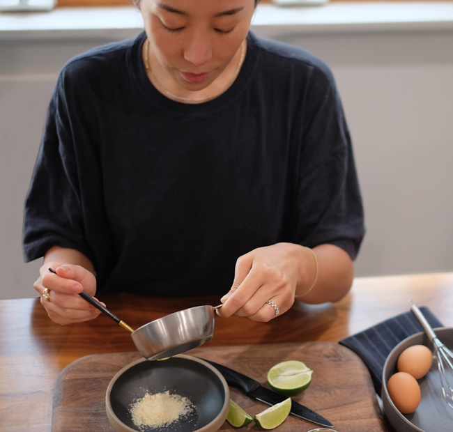Katherine Kim cooking