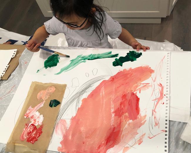 Katherine Kim kids painting