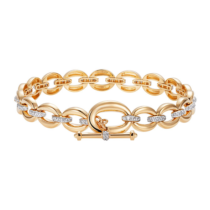 Nadine Aysoy gold link bracelet