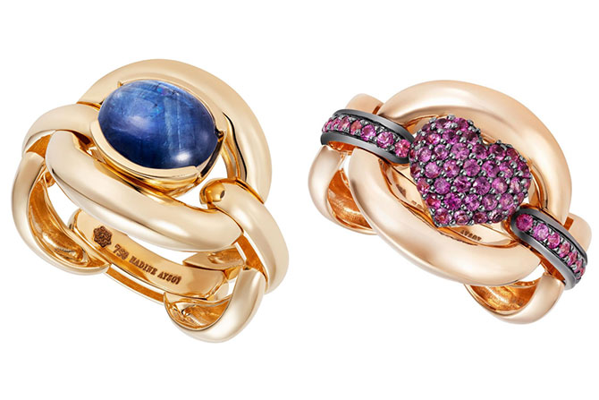 Nadine Aysoy sapphire rings