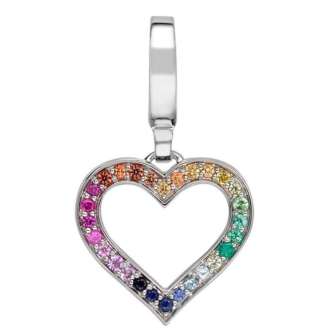 Theo Fennell rainbow heart necklace