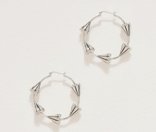 Pamela Love silver hoops