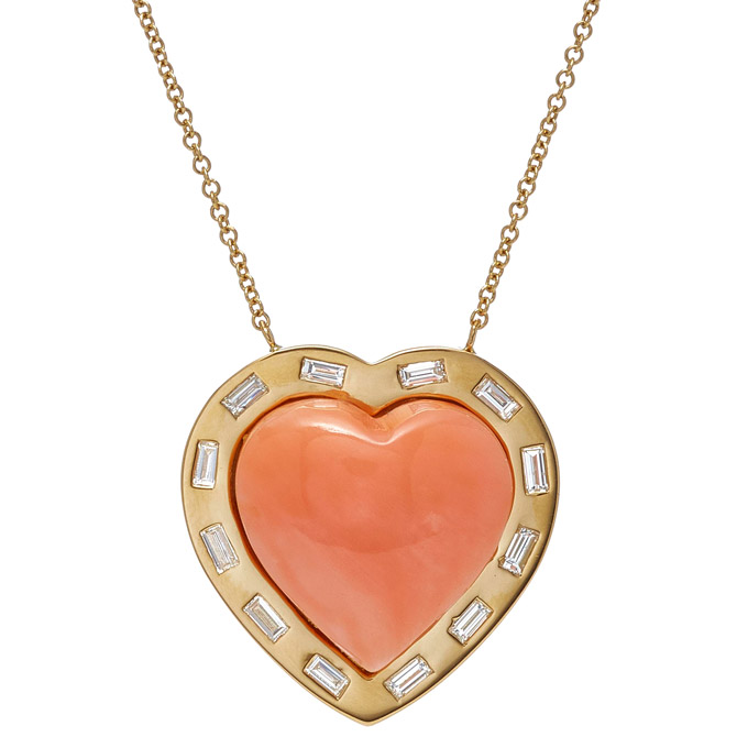 Brent Neale Puff heart pendant