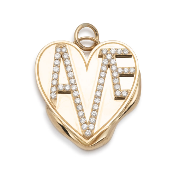 Foundrae Amate Vestige heart medallion