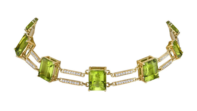 Karma El Khalil peridot necklace