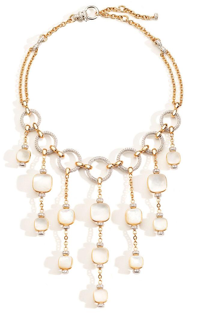 Pomellato Gioia Nudo pink gold necklace