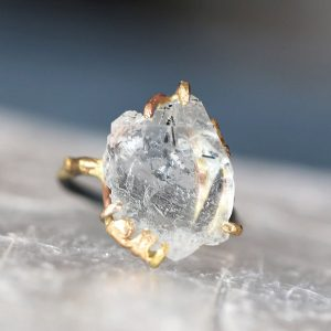 Variance Objects tourmalined aquamarine ring
