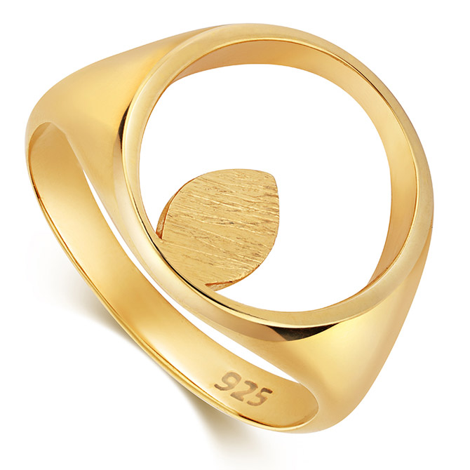 Little by LIttle apple Pip signet ring