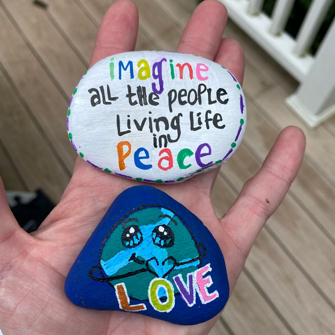 Lauren Kessler hand painted rocks