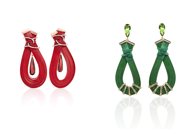 Silvia Furmanovich Bamboo earrings