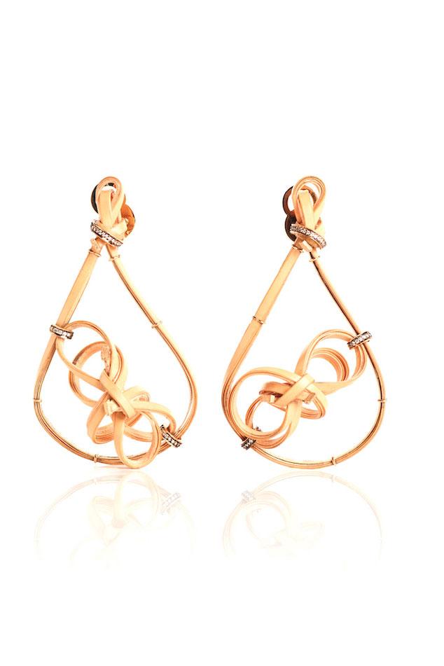 Silvia Furmanovich swirly bamboo earrings