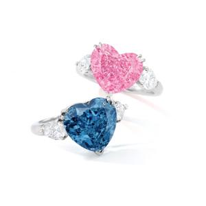 Sothebys heart diamond rings