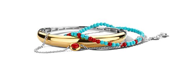 Ti Sento bracelet stack