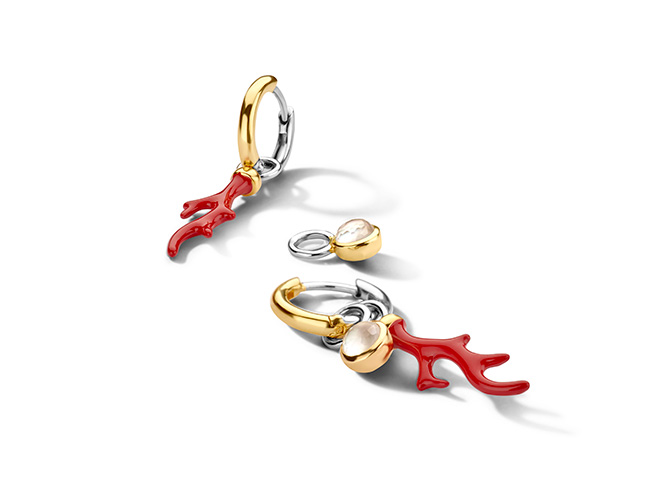 Ti Sento coral branch earring charms