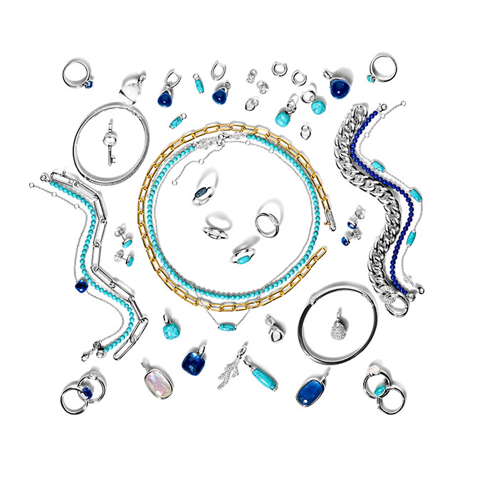 Ti Sento turquoise and blue jewelry
