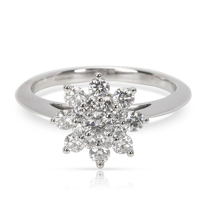 Tiffany flower diamond ring