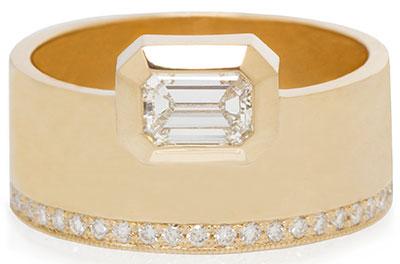 Zoe Chicco Paris emerald cut ring
