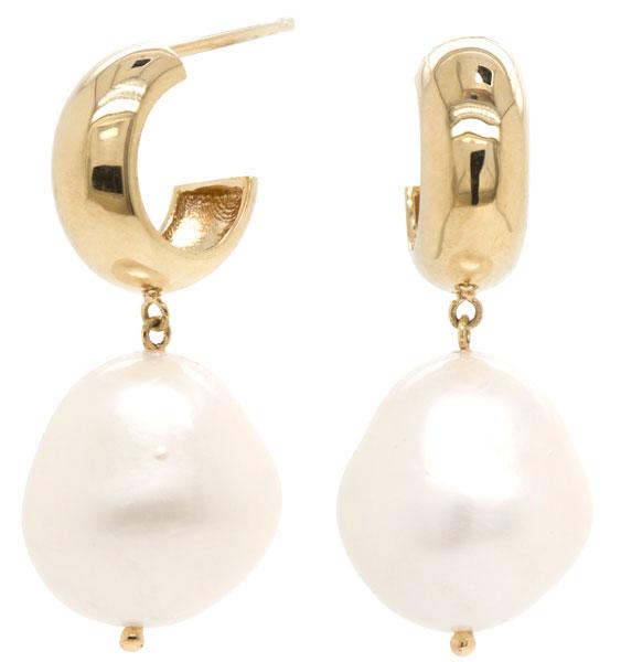 Zoe Chicco baroque pearl earrings