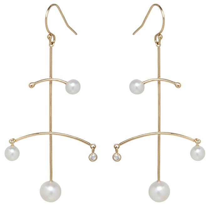 Zoe Chicco pearl mobile earrings